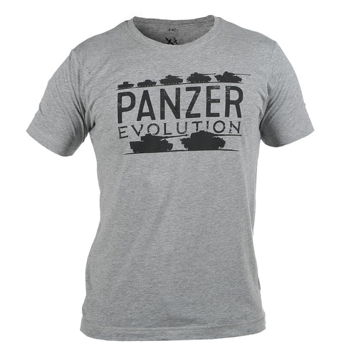 Panzer Evolution Melange Grey T-Shirt WWII Nation