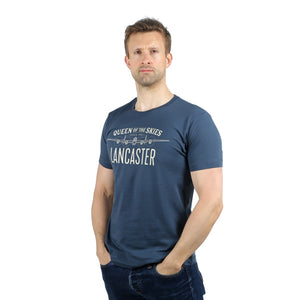 Queen of the Skies Lancaster Denim Blue T-Shirt WWII Nation