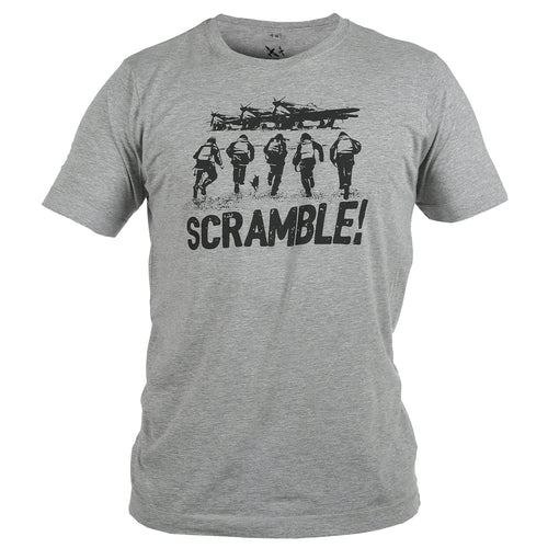 Scramble Melange Grey T-Shirt WWII Nation