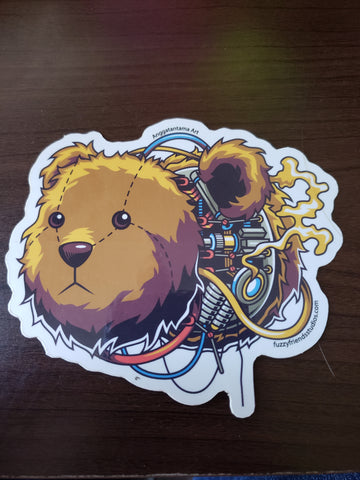 Robo-Teddy Sticker