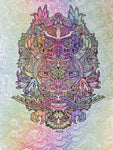 Lenticular Owl Shaman Print (Color Changing) - Small Size