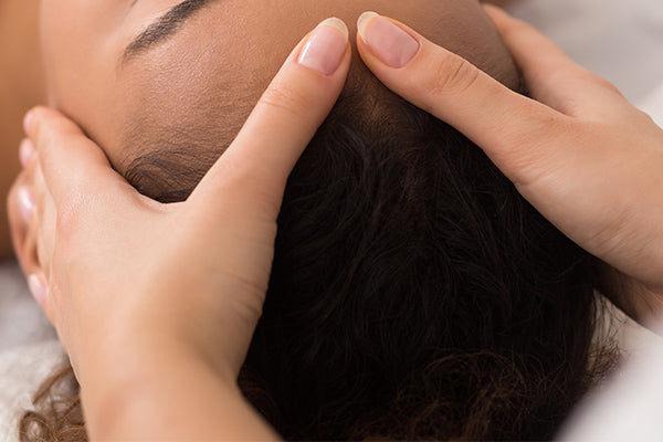 image for treatment on hair with hot oil