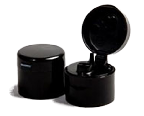 Cap, Black Flip Top (to suit 50ml and 100ml PET bottles)