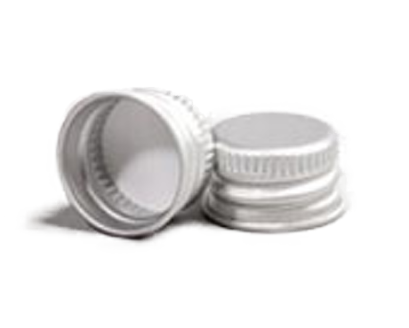 Cap, Silver Aluminium lid with EPE liner