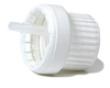 Cap, White Plastic Tamper Evident Dropper Medium (1.5mm)