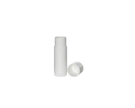 Lip Balm Cylinder, White Plastic (17 ml)