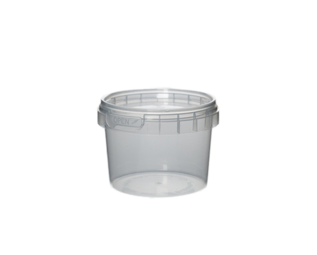 Tub, Transparent Plastic with Tamper Proof Lid (120 ml)