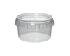 Tub, Transparent Plastic with Tamper Proof Lid (240 ml)