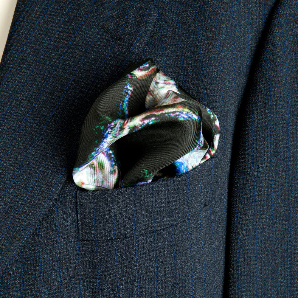 Dark Matter Silk Pocket Square