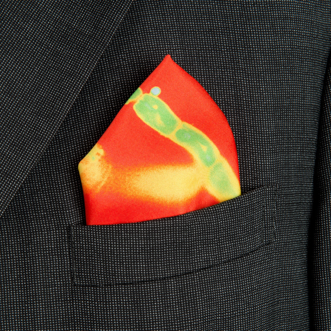 Freedom Red Silk Pocket Square