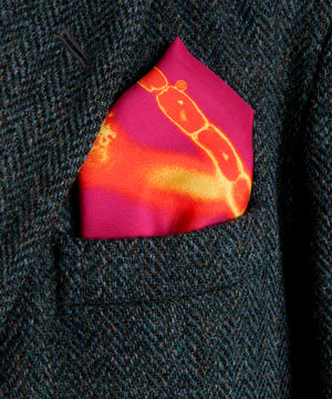 Freedom Fuchsia Silk Pocket Square