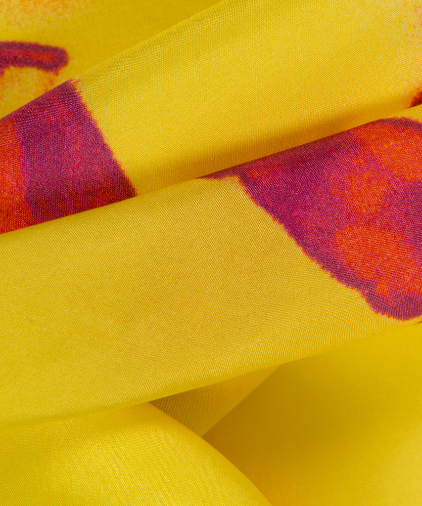 Freedom Yellow Silk Pocket Square