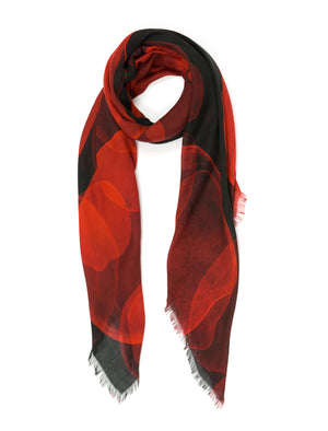 Conchas Red Modal & Cashmere Blend Scarf