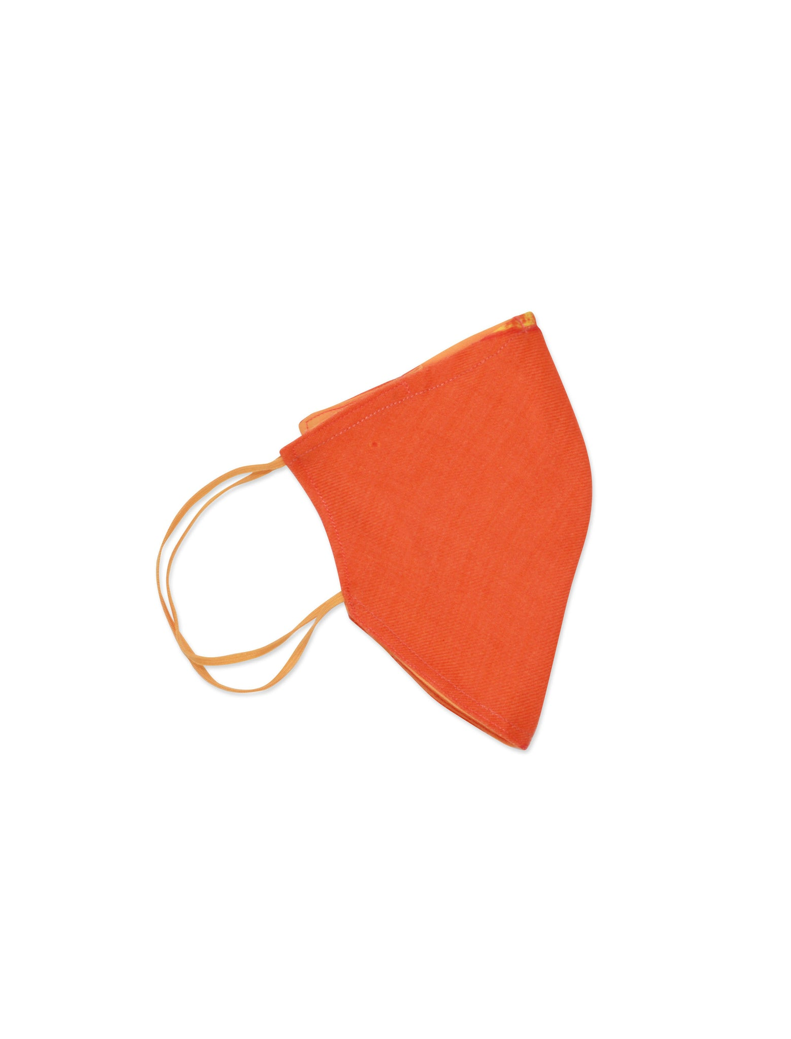 Orange offcut mask + 'Marine Science is Beautiful' organic cotton string bag