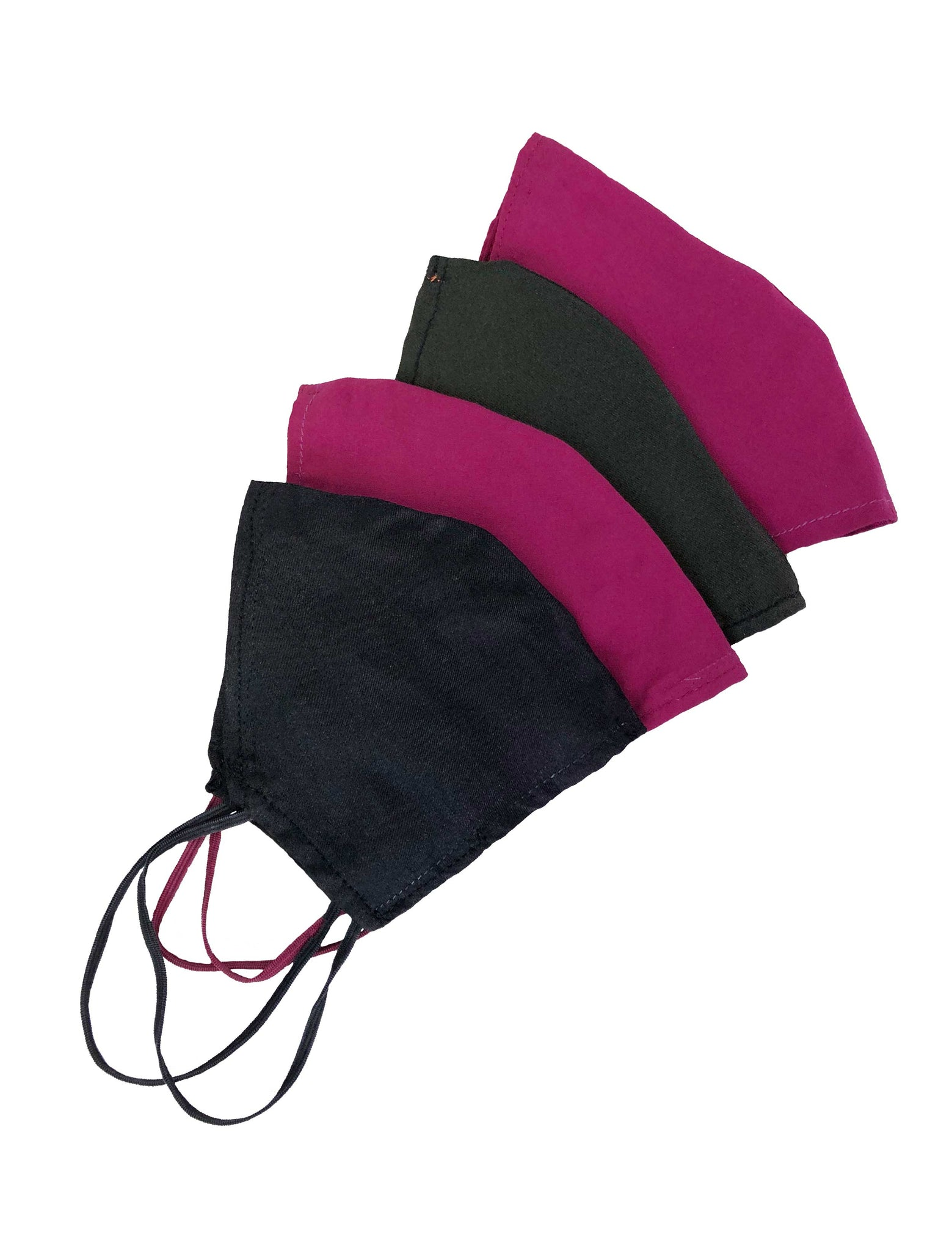 Fuchsia offcut mask + 'Marine Science is Beautiful' organic cotton string bag