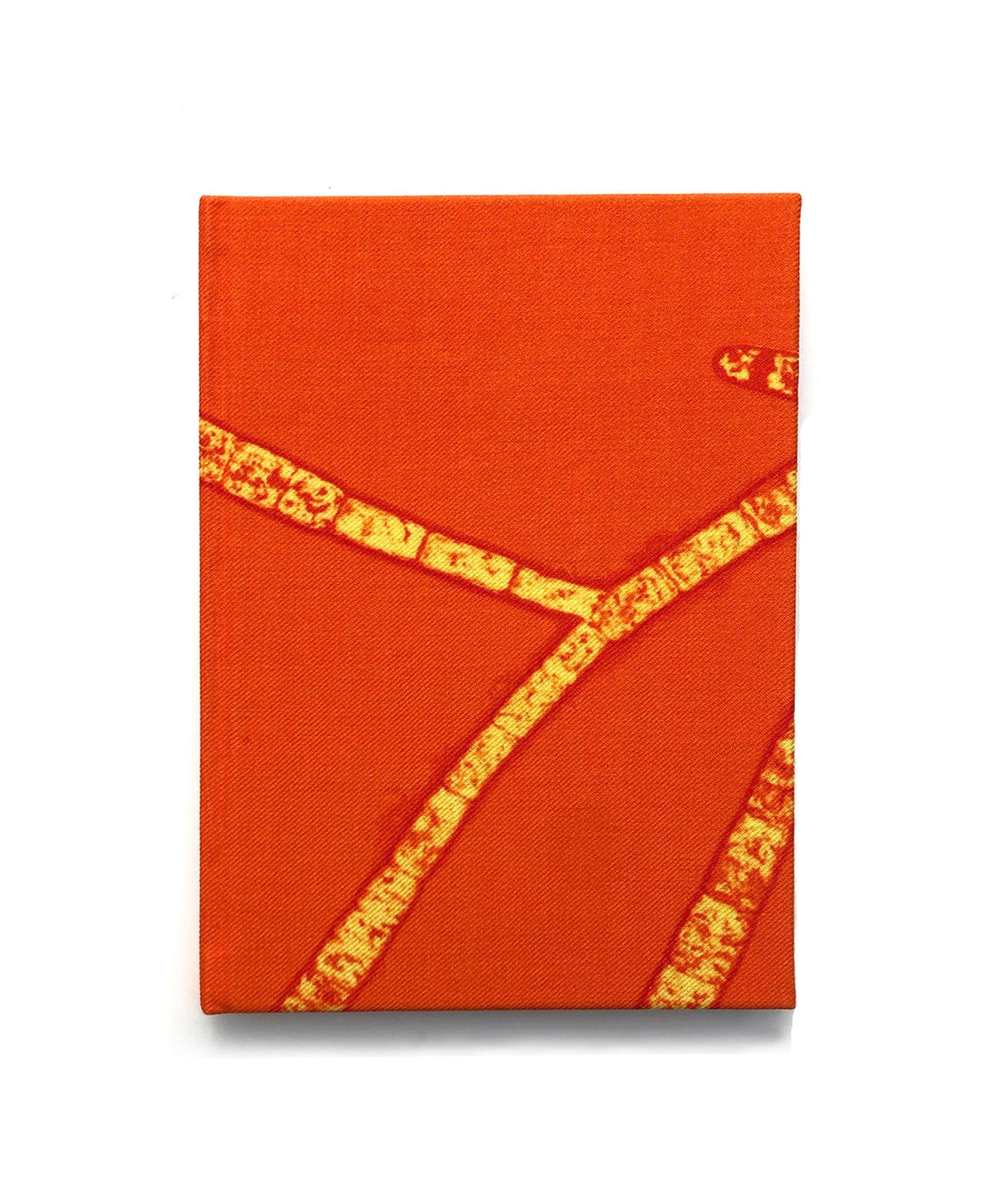 Orange Fantasy Wool Notebook