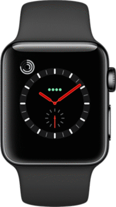 meet fa7c1 62ef7 38mm Black Sport Band for Apple Watch Series 2