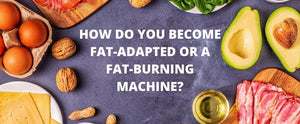 How do you become fat-adapted or a fat-burning machine?