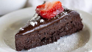 Keto & Paleo Flourless Chocolate Cake.