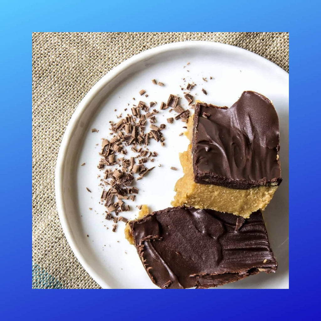 Low Carb, Low Sugar, High Fat Peanut Butter Bars.