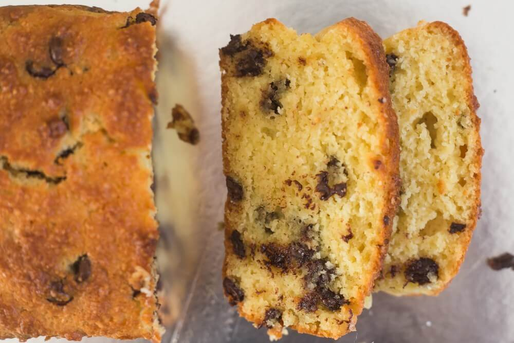 Tasty Keto Chocolate Chip Banana Bread