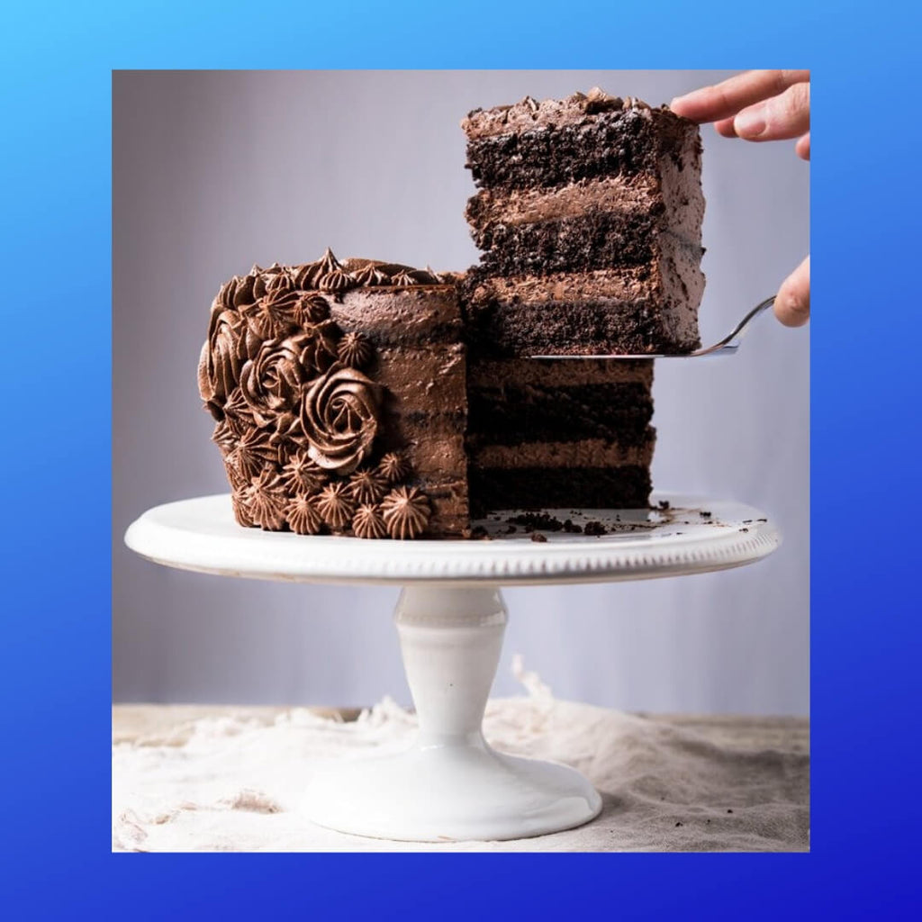 Very tasty Chocolate Cake gluten free, paleo & keto.