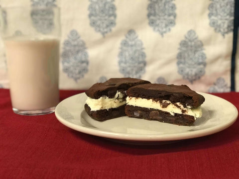 Mouth-Watering Keto Chocolate-Chocolate Chip Cream-Filled Sandwich Cookies