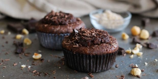 Keto Chocolate Nut Muffins
