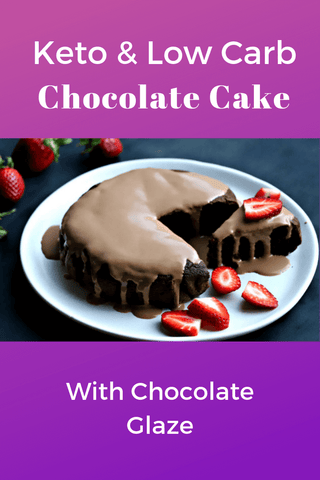 Keto & Low Carb Chocolate Cake with Chocolate Glaze.