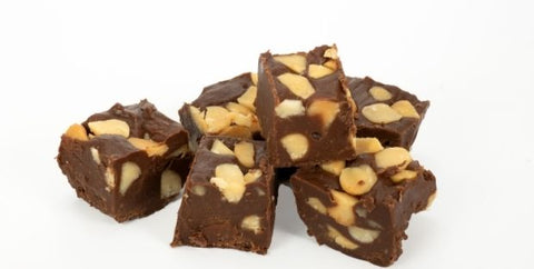 keto chocolate fudge with nuts