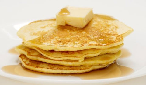 keto pancakes and butter