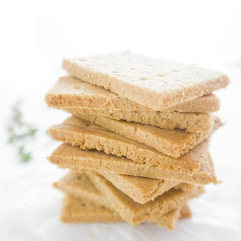 keto low carb almond crackers