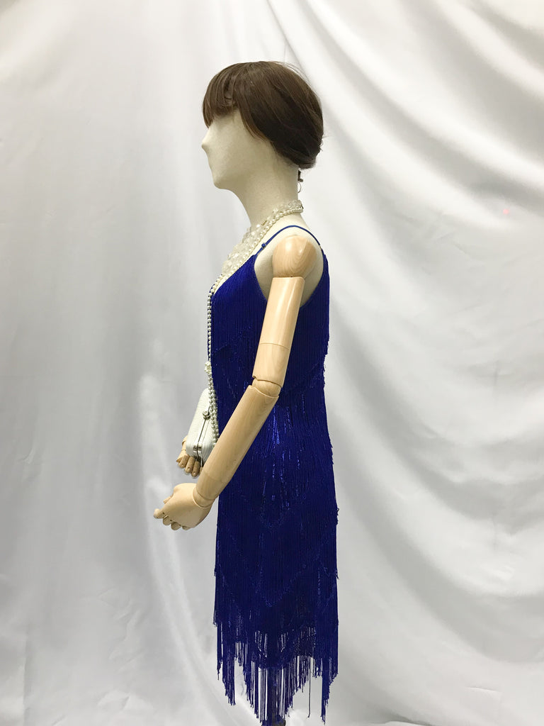 1920's Tassle Dress- Blue