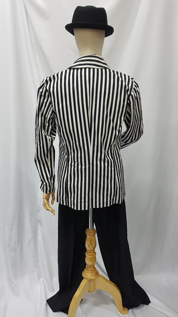 Black and White Striped Coat | Awesome Costumes Singapore