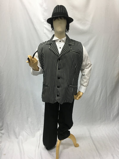 Black and White Lapel Vest | Awesome Costumes Singapore