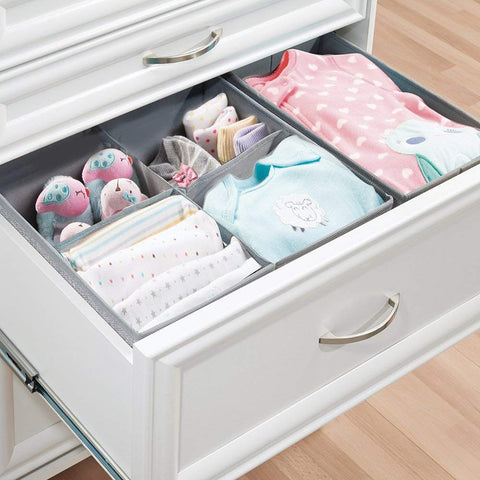 Kids nursery toddler bedroom playroom fabric storage drawer organizers