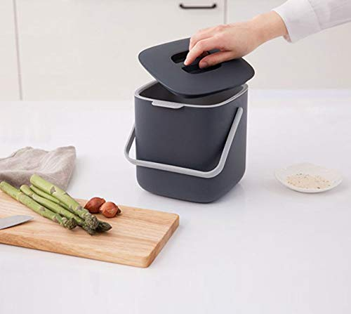 Awesome Harra Home Double Layer Waste Compost Bin With Lid Odor Free Food Trash Container Compostable Bin Indoor Composter Caddy Box Garbage Pail Charcoal Download Free Architecture Designs Parabritishbridgeorg