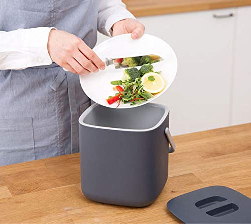 Astonishing Harra Home Double Layer Waste Compost Bin With Lid Odor Free Food Trash Container Compostable Bin Indoor Composter Caddy Box Garbage Pail Charcoal Download Free Architecture Designs Parabritishbridgeorg