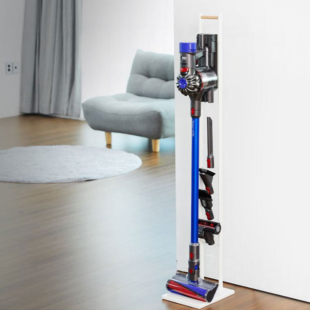 Modern & Wood Accent Vaccum Docking Station, Stable Stand Holder for Cordless Vacuum Cleaners