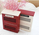 Vintage Letter boxes wood Red post box