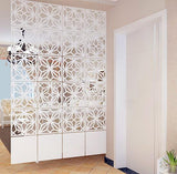 Room Divider Screen Partition Modern Folding Screen Partition Brief Hanging Cutout Curtain, Pack of 6