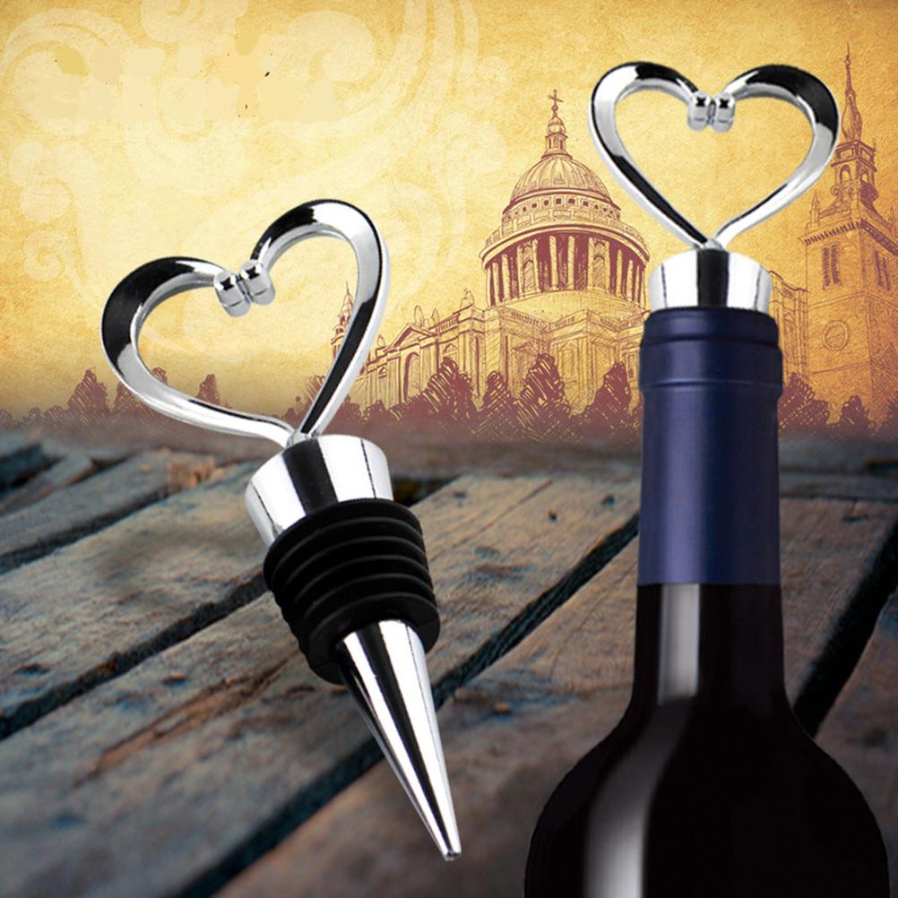 Heart Shaped Elegant Wine Stopper of cork, bottle stopper Wedding Favors wedding decoration