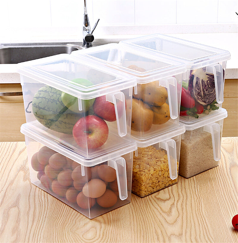 Kitchen Transparent Storage Box Grains Beans Storage Contain Sealed Home Organizer Food Container Refrigerator Storage Boxes