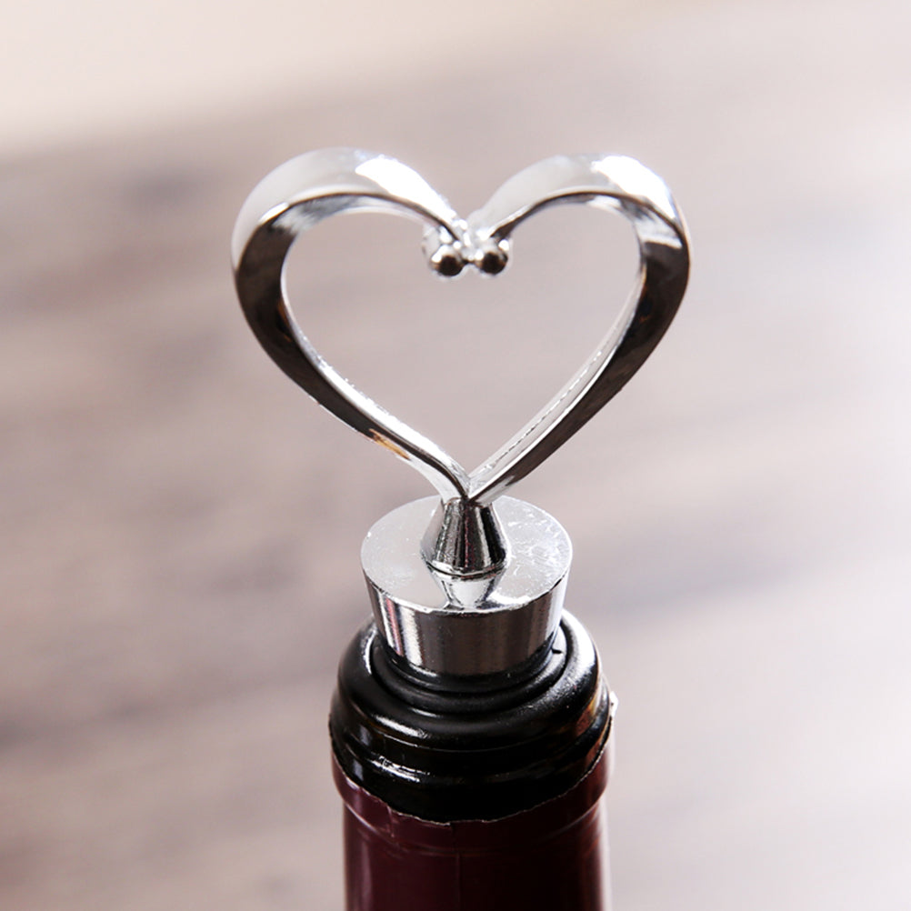 Elegant Heart Shaped Wine Stopper of cork, bottle stopper Wedding Favors wedding decoration