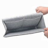 Bed Storage Bag with Pocket Felt, Bedside Hanger, Table Sofa Bedroom Mattress Bedside Anti-slip Organizer Holders