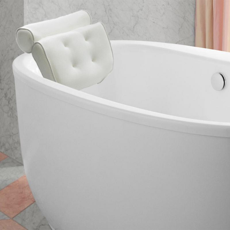Mesh Headrest Backrest Bathroom Bathtub Pillow Non-Slip Cushioned Bath Tub Spa Pillow With Suction Cups Bath Cushion