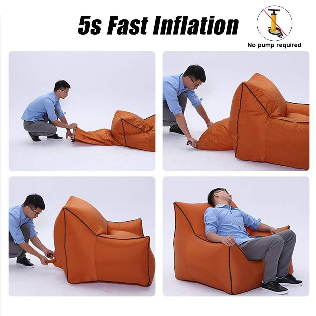 Inflatable Sofa Chair for Beach Garden Outdoor Camping Hiking Travel Foldable Picnic  Mat