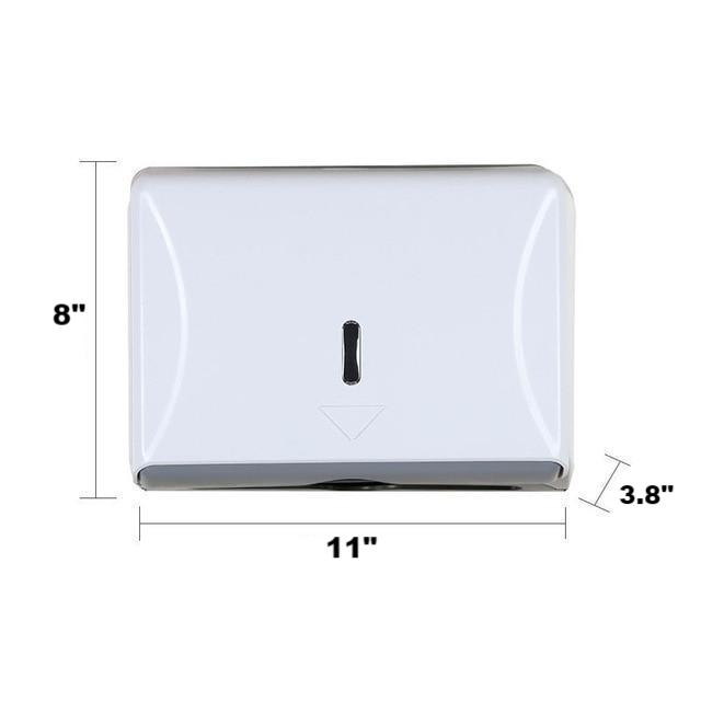 Towel dispenser wall-mounted bathroom hotel nail-free fixed hand towel tray