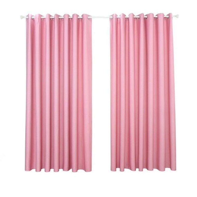 Interior textile window blinds Solid Color, Home Blackout Curtain Decorative Living Room Office Window Blind Shading Screen