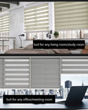 Simple Fabric Double Layer Zebra Customized Roller Blinds For Room Kitchen